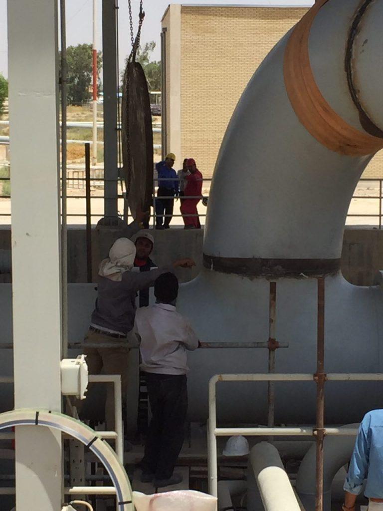 سیستم لوله کشی، کنترل آتش نشانی مخازن نفت خام آزادگان