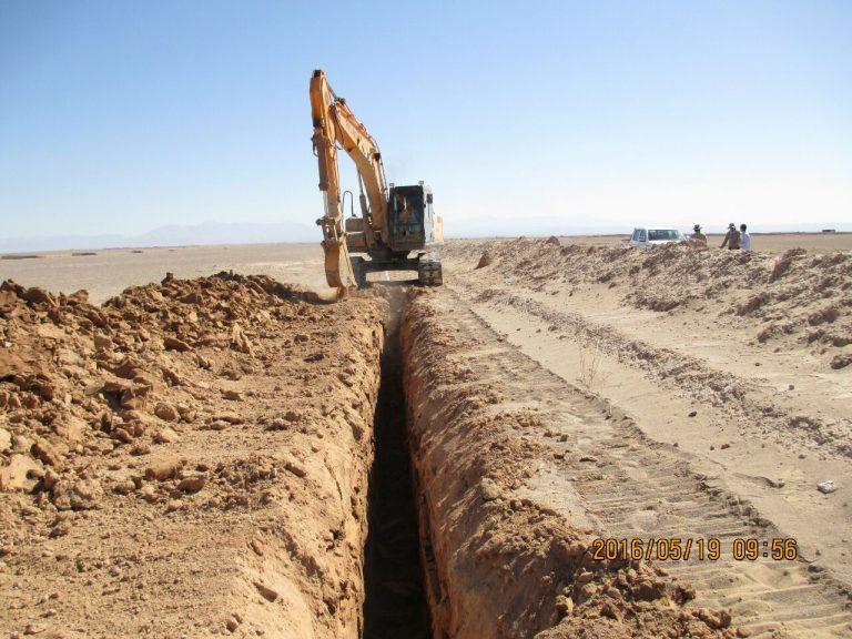 احداث کابل نوری مجاور خط لوله صفاشهر/یزد